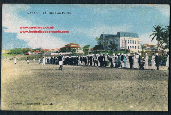 1925 football Senegal Dakar postcard